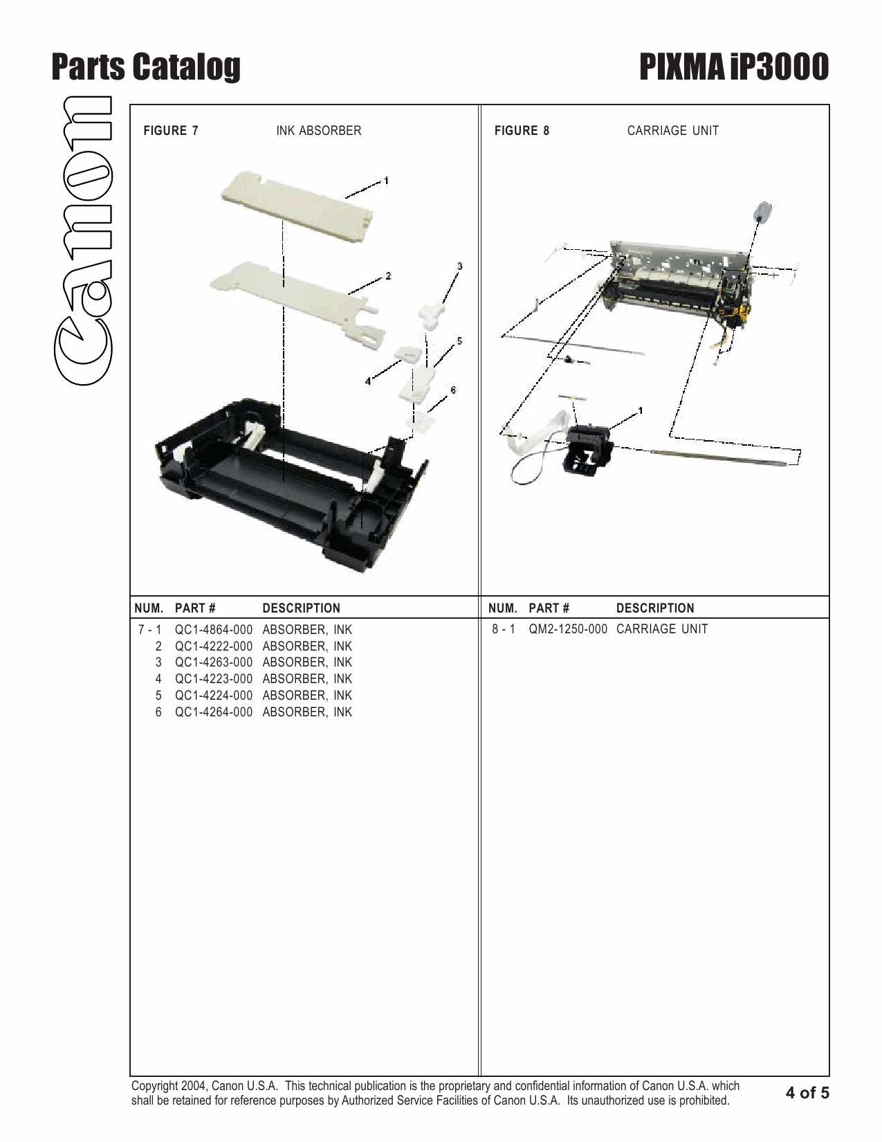 canon pixma ip3000 ip 3000 service manual parts catalog rh digitalrepairmanuals info Canon PIXMA iP4000 Canon PIXMA iP1800